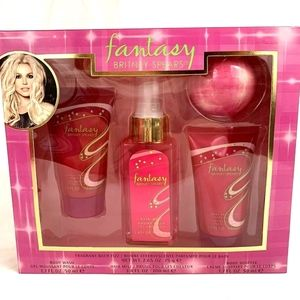 Other - Fantasy by Britney Spears 4 Piece Gift Set Body Wa
